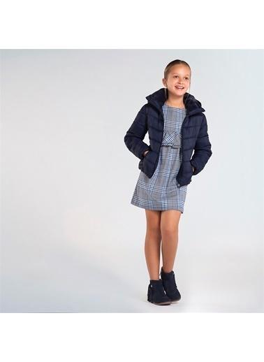 Mayoral Mayoral Kız Çocuk Ekose Elbise Mavi